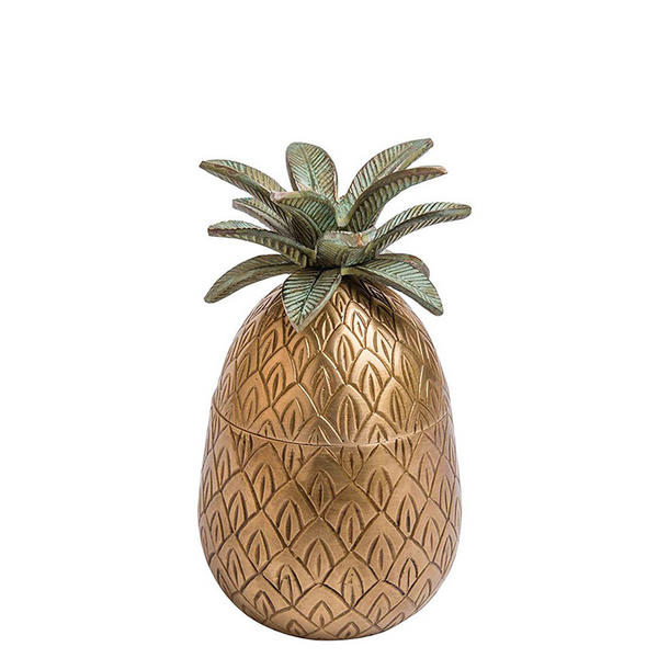 C.A.M Artisanal Brass Pineapple Container